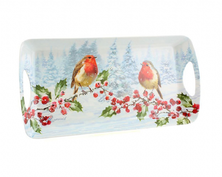 Robins Christmas Medium Tray